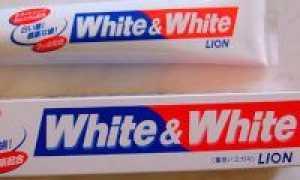 Зубная паста White & White Lion (японская) и отзывы об ее использовании
